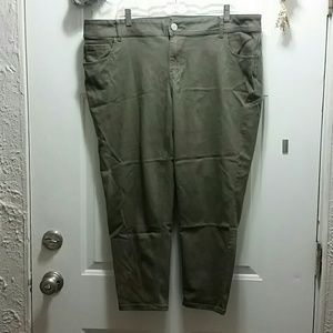 Lane Bryant 20 Genius Fit Green Pants